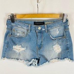 Aeropostale High Waisted Shorty Shorts Jean Denim